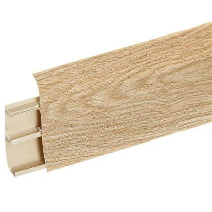 Плинтус напольный ПВХ 85 мм 2.5 м цвет дуб милан
