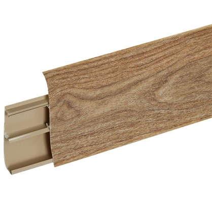 Плинтус напольный ПВХ 85 мм 2.5 м цвет дуб рип