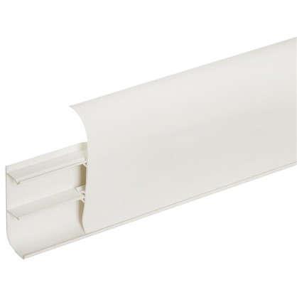 Плинтус напольный ПВХ 86 мм 2.5 м цвет белый