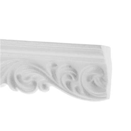 Потолочный плинтус 20006057 200х6 см цвет белый цена