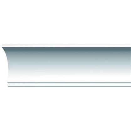 Потолочный плинтус D109 ударопрочный 200х6 см цвет белый
