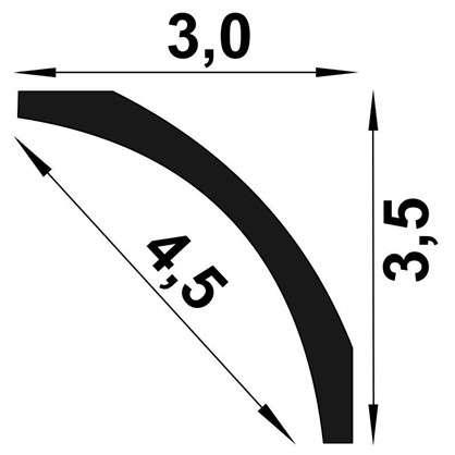 Потолочный плинтус MF 200х5 см цвет белый