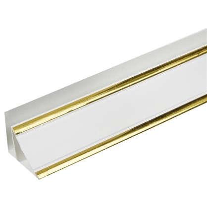 Купить Плинтус ПВХ потолочный 3000 мм цвет софитто золото дешевле