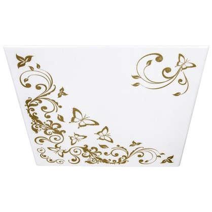 Купить Потолочная плитка экструдированная Гармония 2 м2 50х50 см пенополистирол цвет золотой дешевле