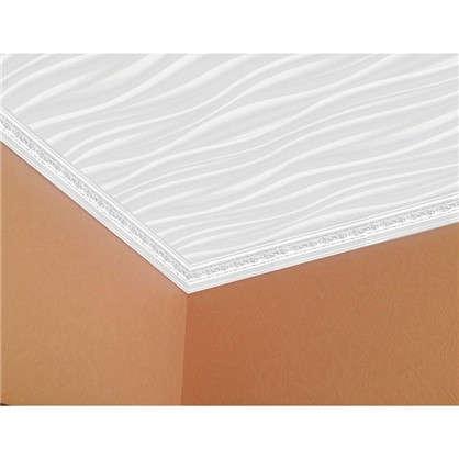 Купить Потолочная плитка экструдированная Шторм 2 м2 цвет перламутровый дешевле