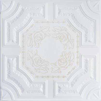 Купить Потолочная плитка Империал 2 м цвет золотой дешевле