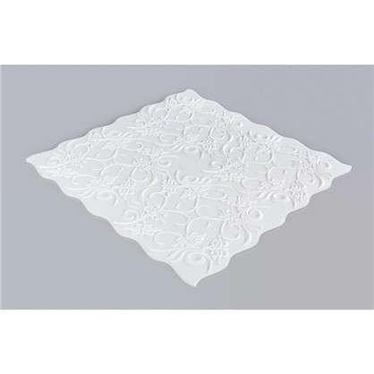 Купить Потолочная плитка инжекционная Нарцисс бесшовная 2 м2 50х50 см пенополистирол цвет белый дешевле