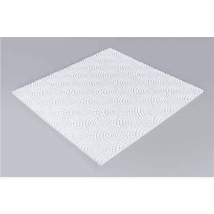 Потолочная плитка инжекционная Веер бесшовная 2 м2 50х50 см пенополистирол