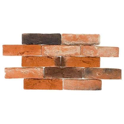 Плитка декоративная Лондон Брик цвет тёмно-оранжевый