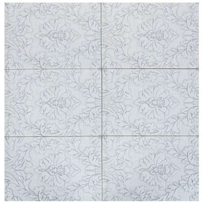 Плитка наcтенная Дамаск 2С 27.5х40 см 1.65 м2 цвет серый