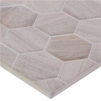 Плитка наcтенная Гексавуд 20х60 см 0.84 м2 цвет бежевый