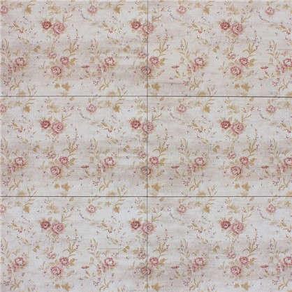 Плитка наcтенная Прованс 25х45 см 1.46 м2 цвет бежевый/розовый