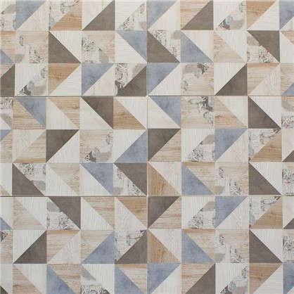 Плитка наcтенная Шервуд 20х40 см 1.58 м2 цвет бежевый/голубой