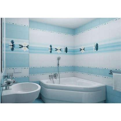 Купить Напольная плитка Дельта 30х30 см 1.26 м² цвет голубой дешевле