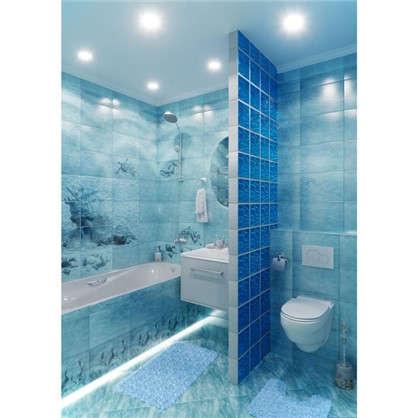 Купить Напольная плитка Лагуна 41.8х41.8 см 1.747 м2 цвет голубой дешевле
