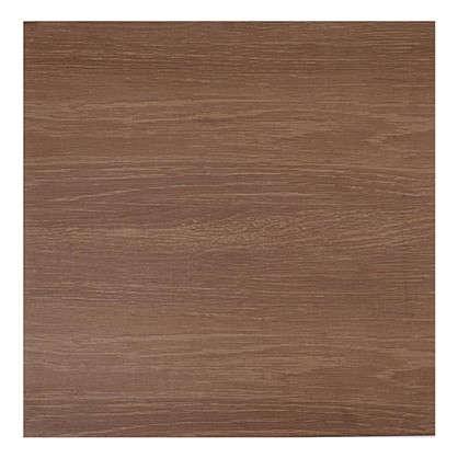 Купить Напольная плитка Плессо 41.8х41.8 см 1.747 м2 цвет коричневый дешевле