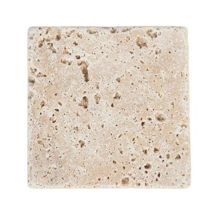 Плитка настенная Травертин Provance 10х10 см 0.5 м2 цвет белый