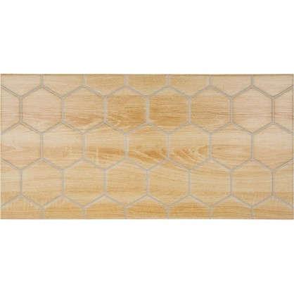 Плитка настенная Wood Гексо 60x30 см 1.62 м2 цвет бежевый