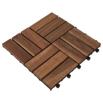 Купить Плитка садовая 30x30x2.4 см акация 12 реек дешевле