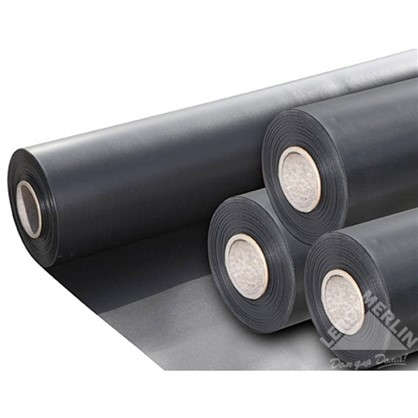 Плёнка ПВХ 0.5 мм 1 м цвет чёрный