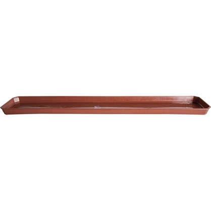 Купить Поддон для балконного ящика 13.8х2.4х40 см полипропилен цвет терракотовый дешевле