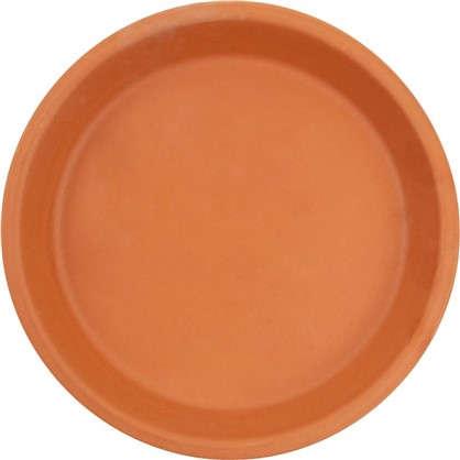 Поддон для горшка 17 см керамика цвет терракотовый