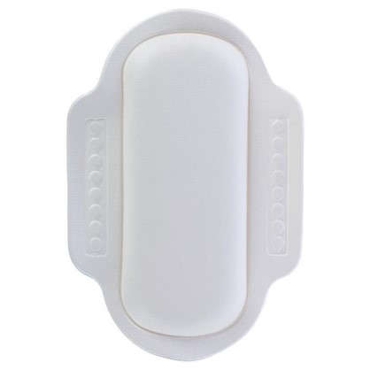 Подголовник для ванны 25х34 см цвет белый