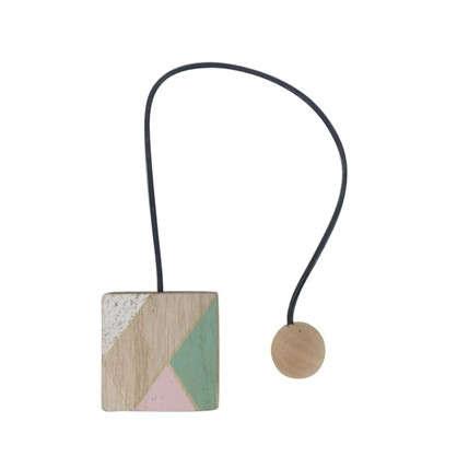 Подхват магнитный Азура 6х44 см цвет розовый/белый/натуральный/зеленый