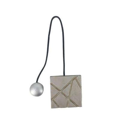 Подхват магнитный Грейс 5.8х34 см цвет серебряный