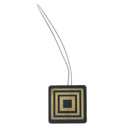 Купить Подхват магнитный Квадрат дерево цвет серый дешевле
