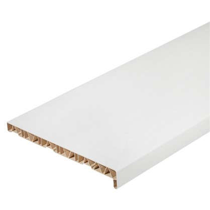 Подоконник пластиковый 400x1500 мм цвет белый