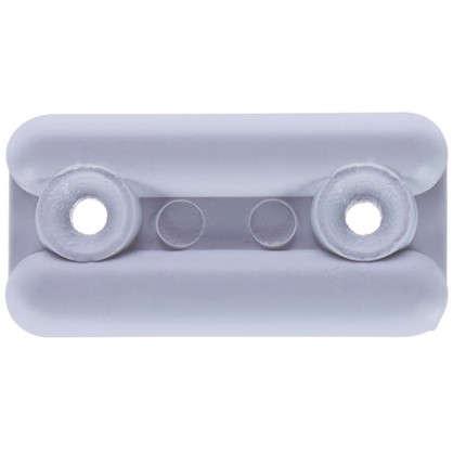 Подпятник прямоугольный 18х35 см пластик цвет белый 8 шт.