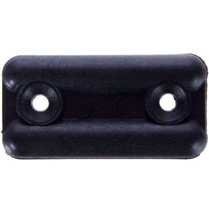 Подпятник прямоугольный 18х35 см пластик цвет черный 8 шт.