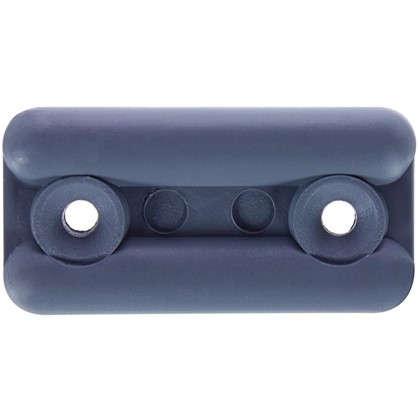 Подпятник прямоугольный 18х35 см пластик цвет серый 8 шт.