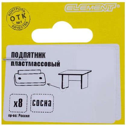 Подпятник прямоугольный 18х35 см пластик цвет сосна 8 шт.