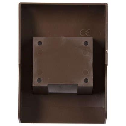 Купить Подрозетник для плинтуса ПВХ 58 мм цвет тёмно-коричневый дешевле