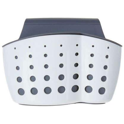 Подставка для щетки и губки цвет белый/серый