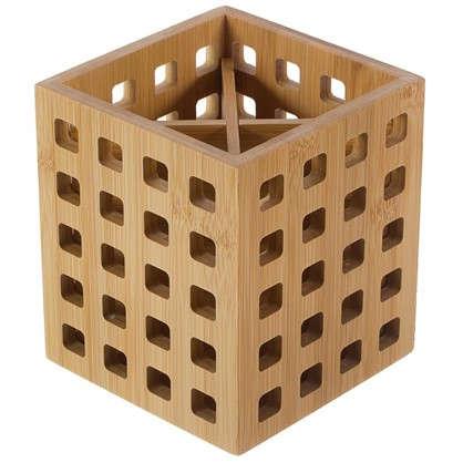 Подставка под столовые приборы 120х120х140 цвет бамбук