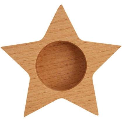Подсвечник для чайной свечи Звезда цвет бежевый