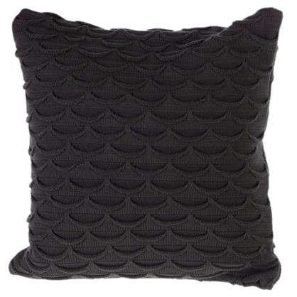 Купить Подушка декоративная 40х40 см цвет серый дешевле