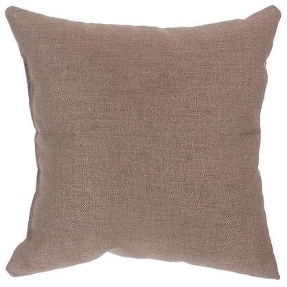 Купить Подушка декоративная 40х40 см цвет серо-коричневый дешевле