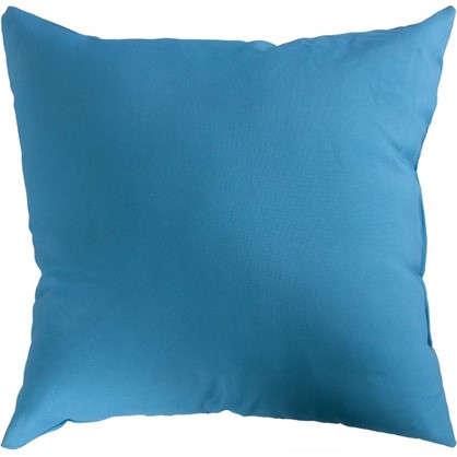 Подушка декоративная 40х40 см текстура габардин цвет синий
