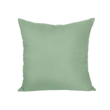 Подушка декоративная 40х40 см текстура габардин цвет зеленый