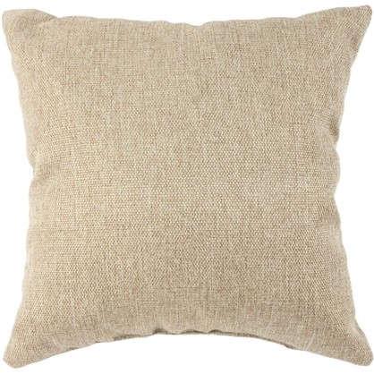 Подушка декоративная 40х40 см текстура лен цвет бежевый