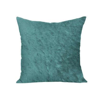Подушка декоративная 40х40 см текстура плюш цвет бирюзовый