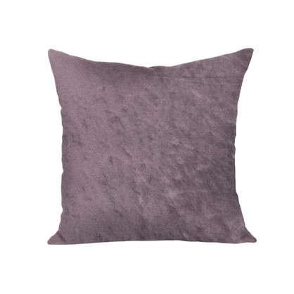 Подушка декоративная 40х40 см текстура плюш цвет коричневый