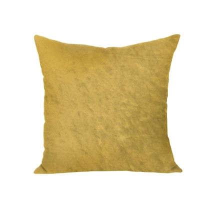 Подушка декоративная 40х40 см текстура плюш цвет желтый