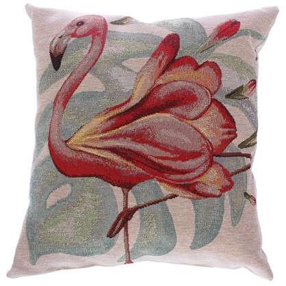 Подушка декоративная Фламинго 38х38 см гобелен