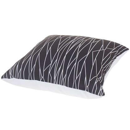 Подушка декоративная Геометрия 40х40 см цвет черно-белый