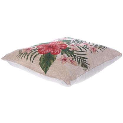 Подушка декоративная Гибискус 38х38 см гобелен